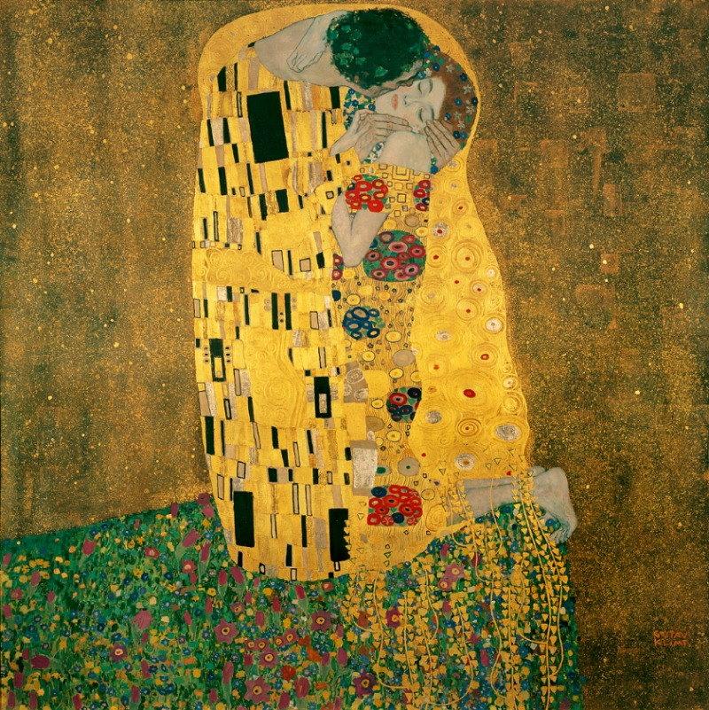 De Kus – schilderij Gustav Klimt