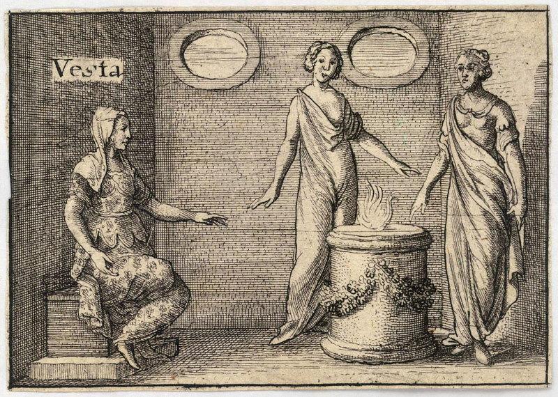 Vesta romeinse godin