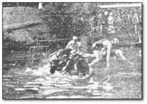 zwemmen met hinderisbaan