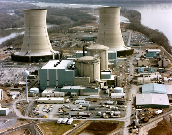 ramp in de kerncentrale Three Mile Island