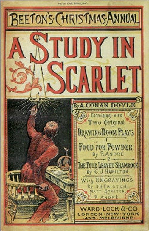 'A study in Scarlet' eerste sherlock holmes boek