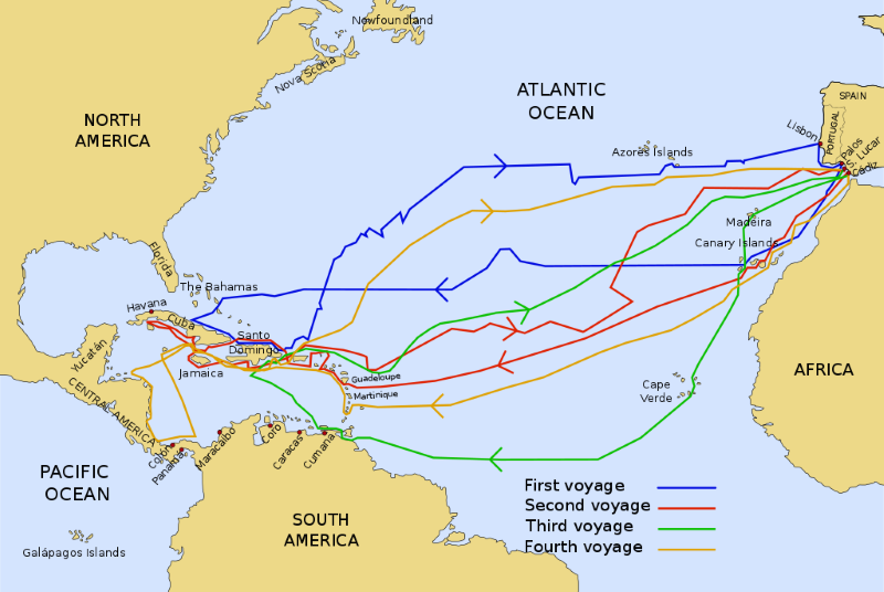 Christopher Columbus route
