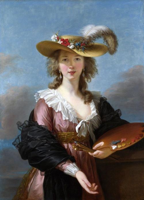 Zelfportret met strohoed - Élisabeth Vigée-Le Brun