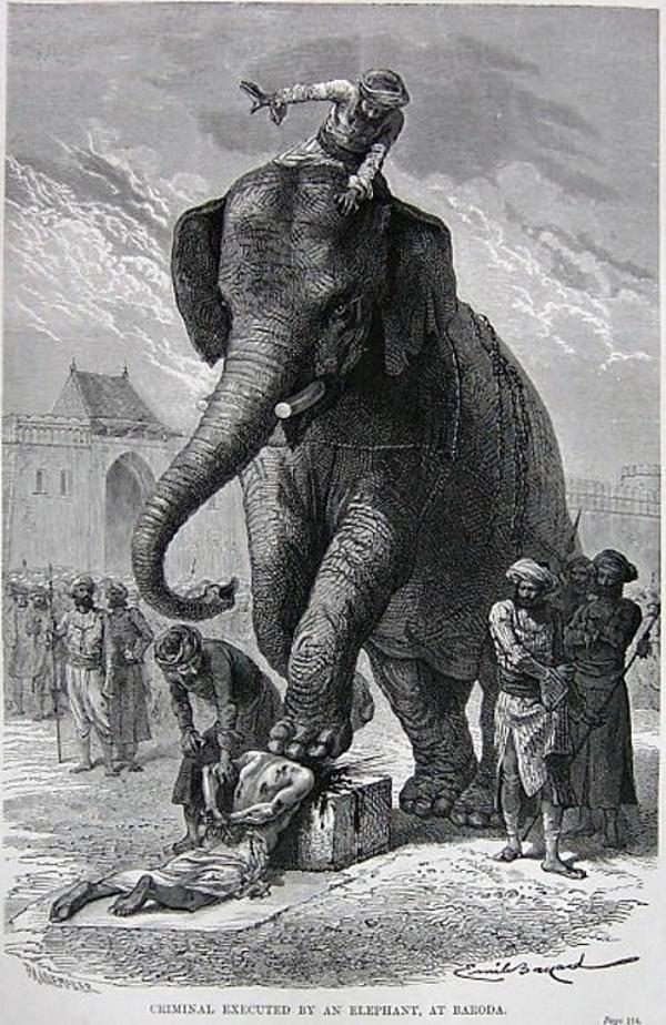 Verplettering door een olifant