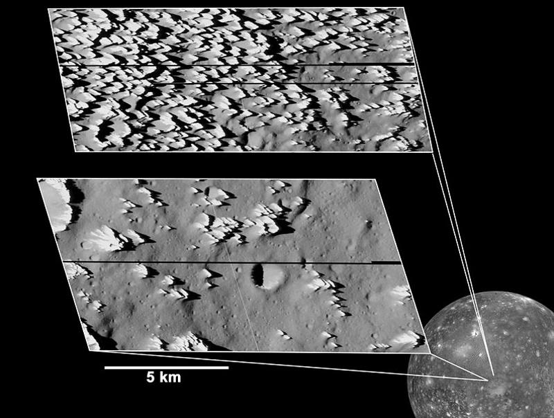ijsspitsen op callisto