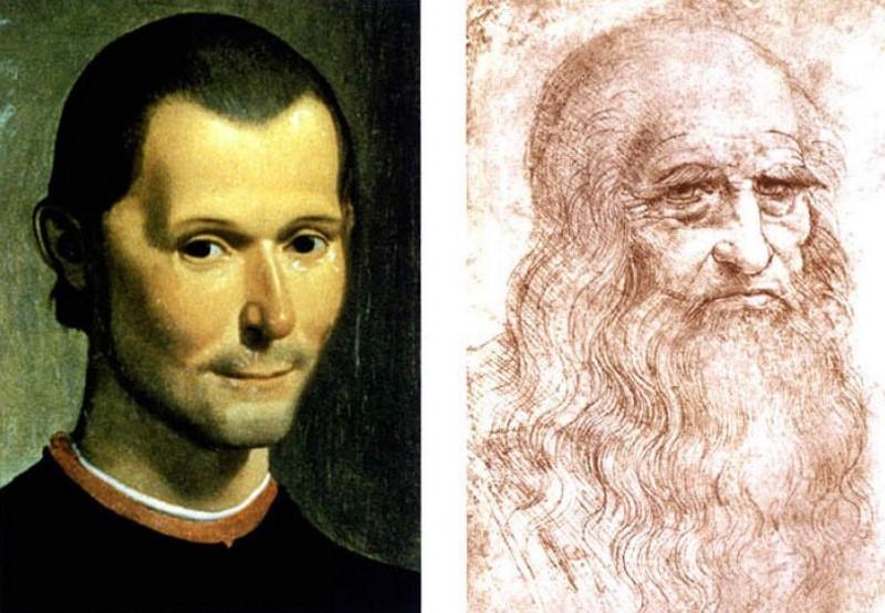 Leonardo Da Vinci en machiavelli