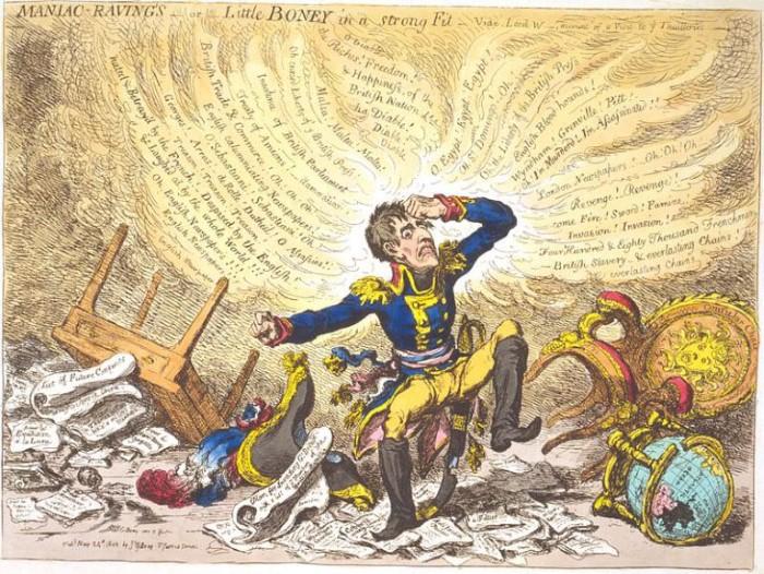 britse karikatuur kleine napoleon