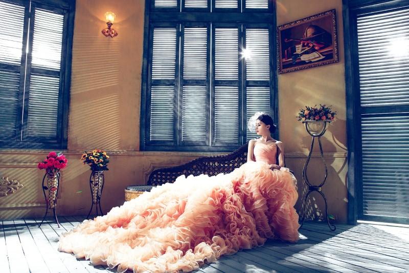 bruid zien voor de bruiloft