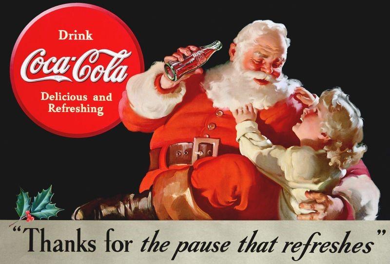 coca cola en de kerstman