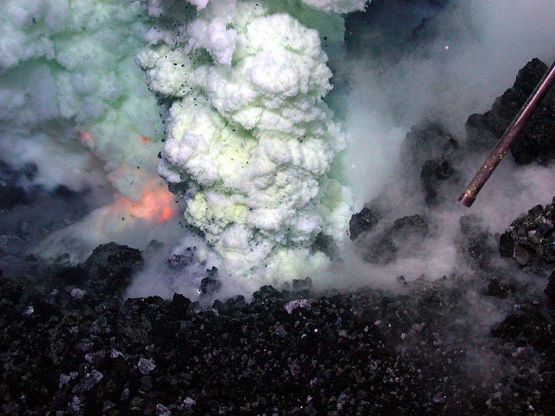 uitbarsting onder zee