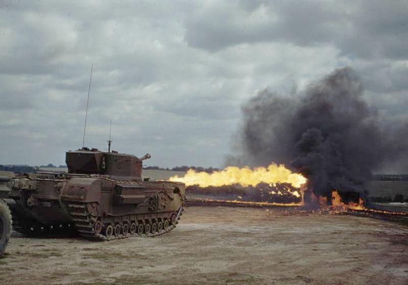 Churchill Crocodile - tank met vlammenwerper