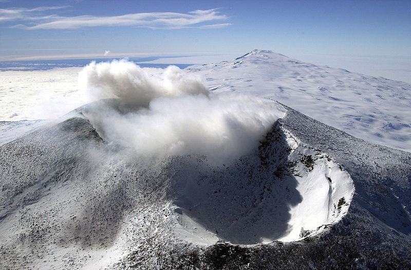 Mount Erebus - vulkaan op antartica