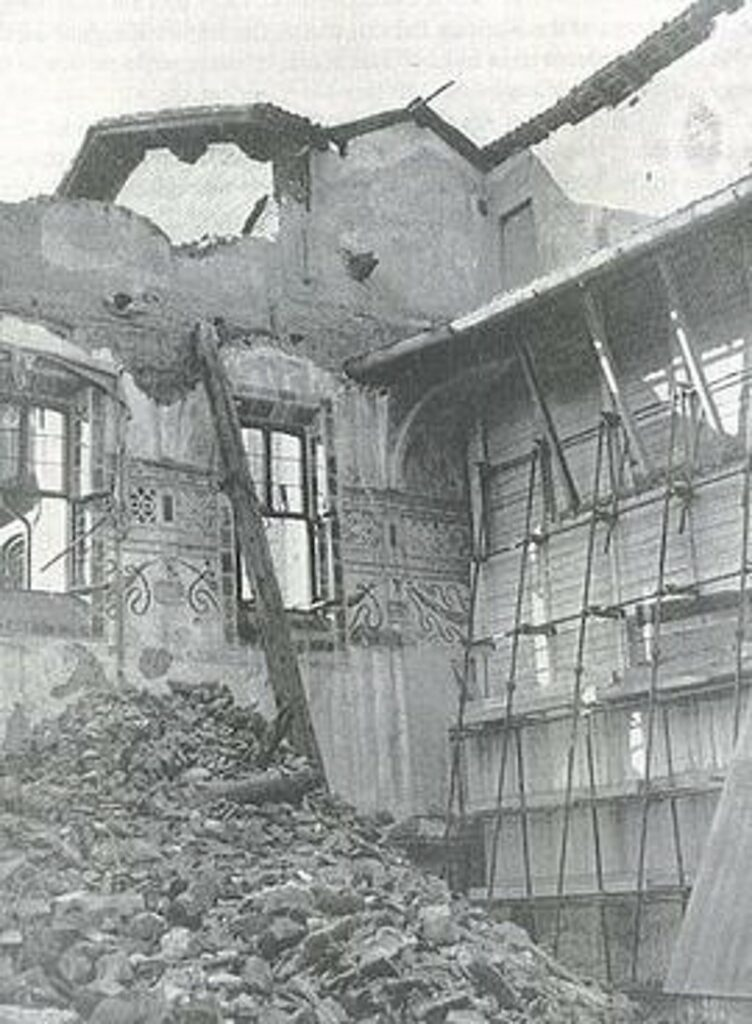 in de oorlog is het schilderij bijna verwoest