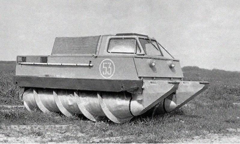 tank met een schroef
