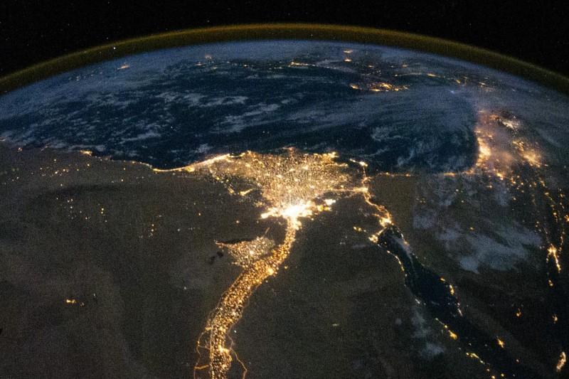 vanuit de ruimte te zien