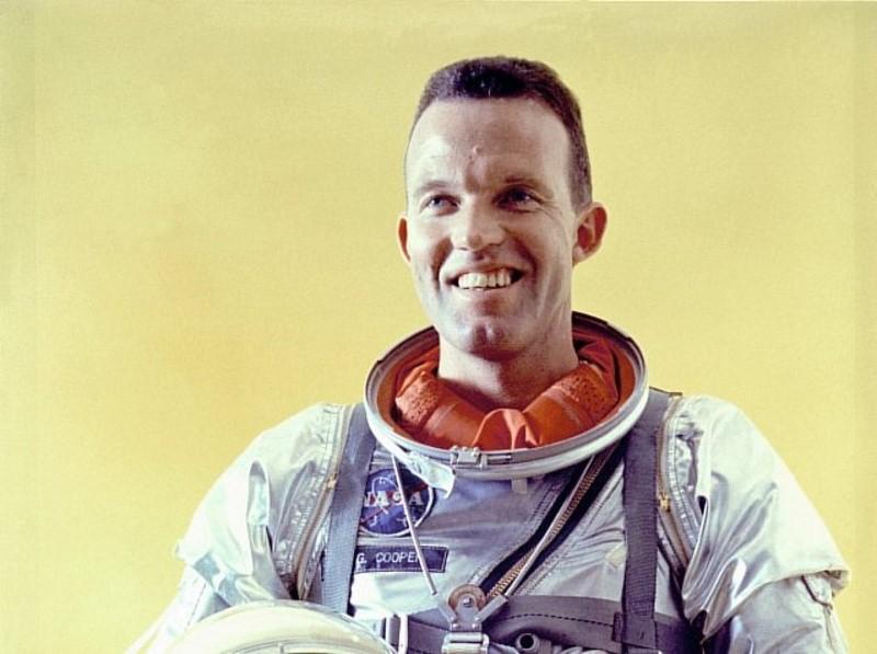 Gordon Cooper zag groene lichten in de ruimte
