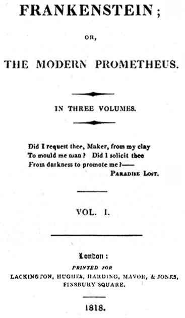 frankenstein eerste editie