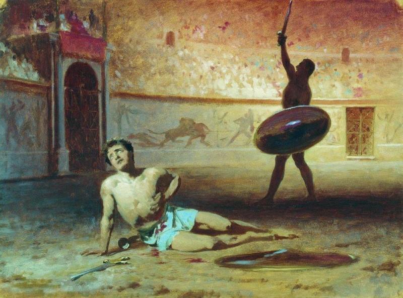gladiatoren vechten niet tot de dood