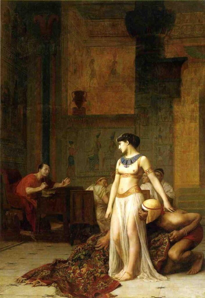 cleopatra kwam uit een tapeit bij julius cesar