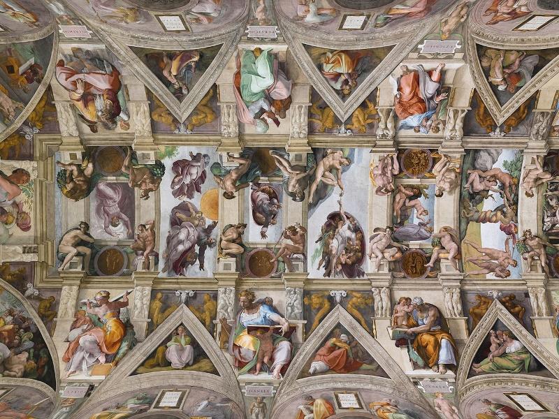 plafond van de Sixtijnse Kapel