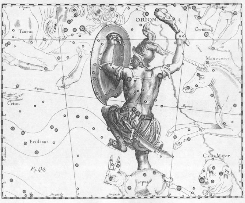 Orion - Griekse god en sterrenbeeld