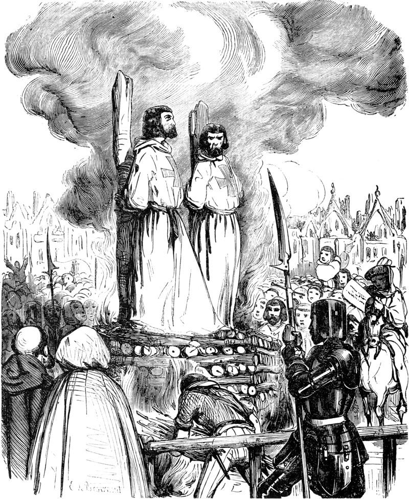 tempeliers op de brandstapel