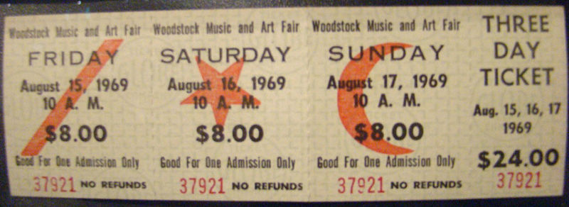 woodstock tickets