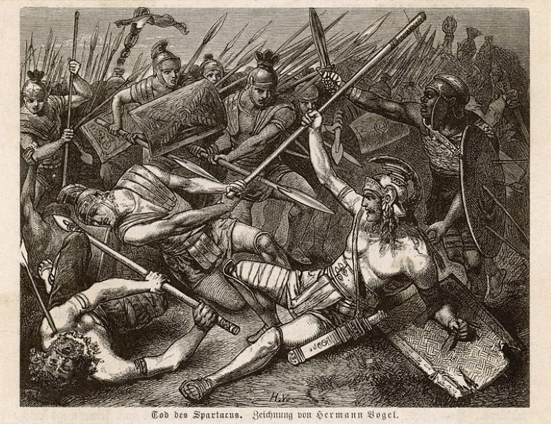 dood van spartacus