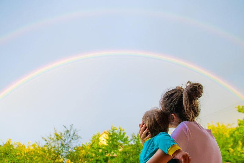 je ziet niet dezelfde regenboog