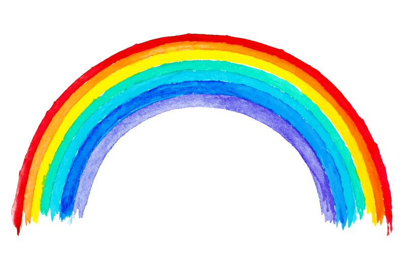 kleuren van de regenboog