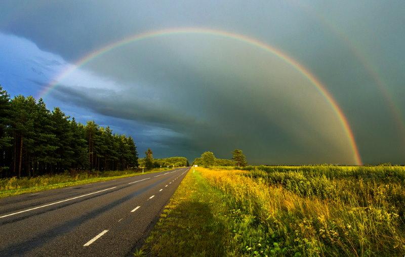 prachtige regenboog