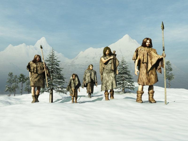 mensen in de ijstijd
