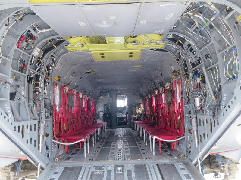 CH-47F Chinook binnenkant