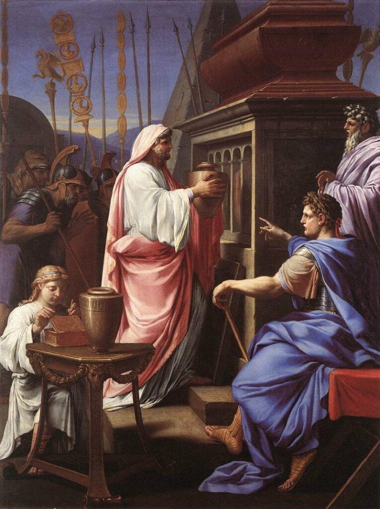 caligula brengt as van zijn moeder terug