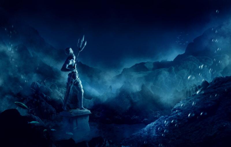 poseidon standbeeld