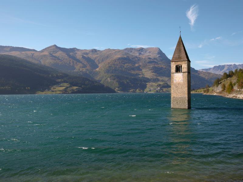 verdronken kerk