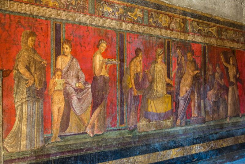 bruisend leven in pompeii
