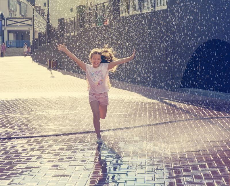 rennen in de regen