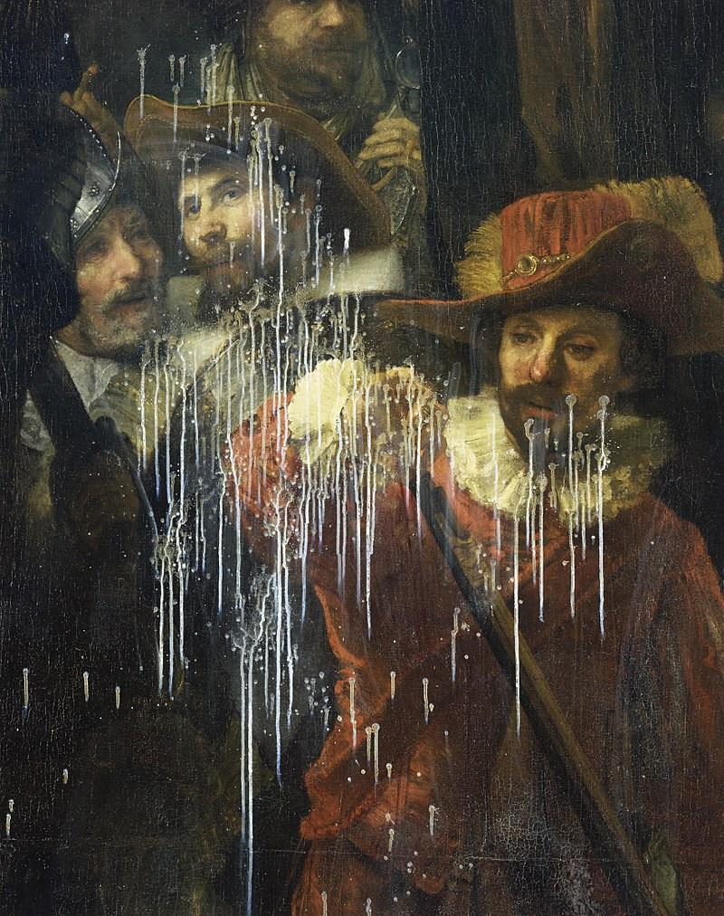 beschadiging schilderij