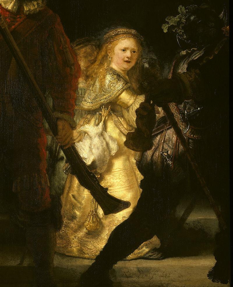 meisje in het schilderij