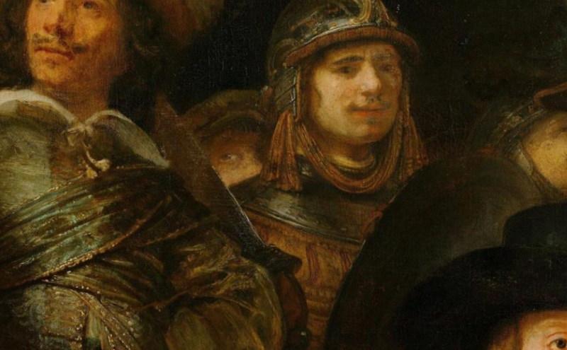 rembrandt in het schilderij