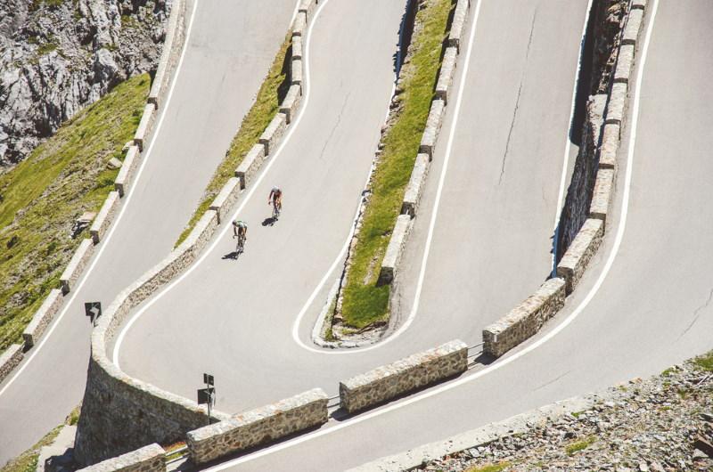 Passo dello Stelvio fietsers