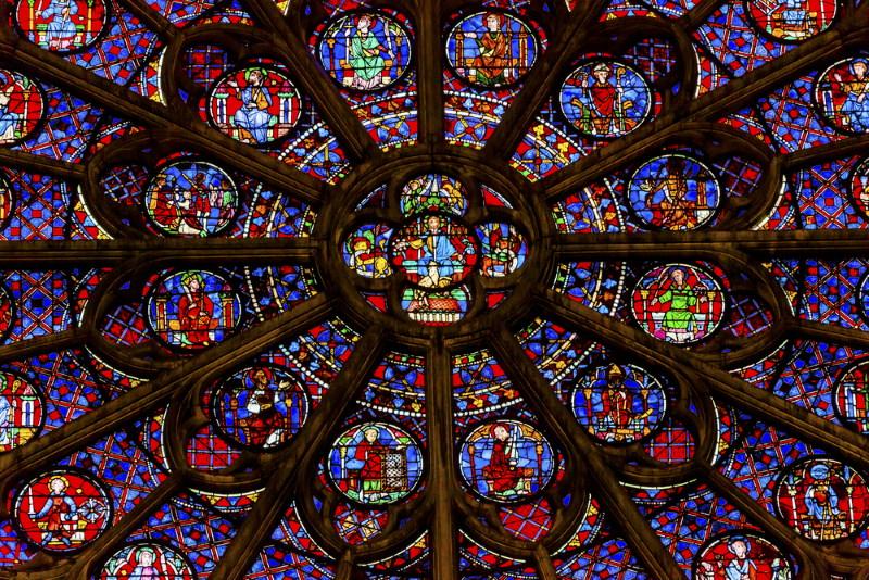 Zuidelijke roosvenster - Notre Dame 2