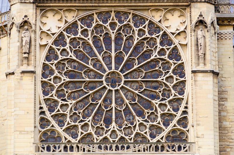 Zuidelijke roosvenster - Notre Dame