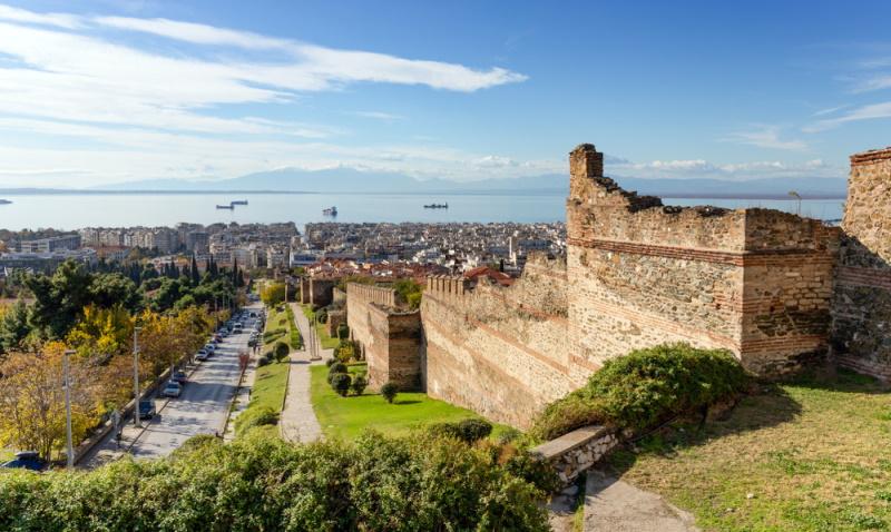 oude muur van Thessaloniki