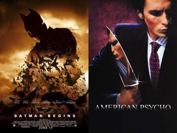 Batman Begins en American Psycho