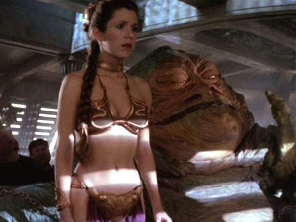 Carrie Fisher in Star Wars Episode VI Return of the Jedi (1983)