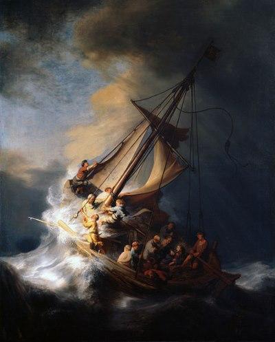 Christus in de storm op het meer van Galilea