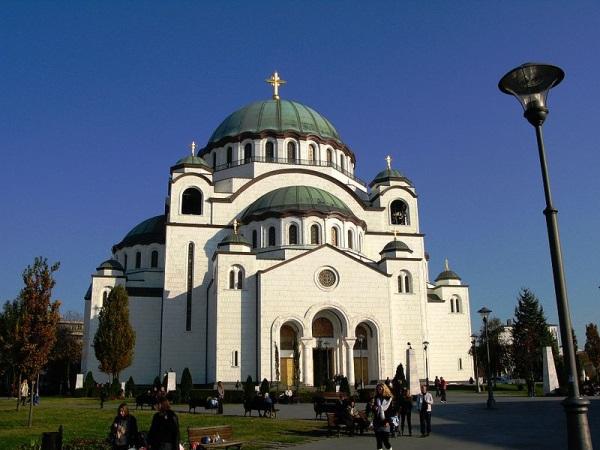 De kathedraal van de heilige Sava
