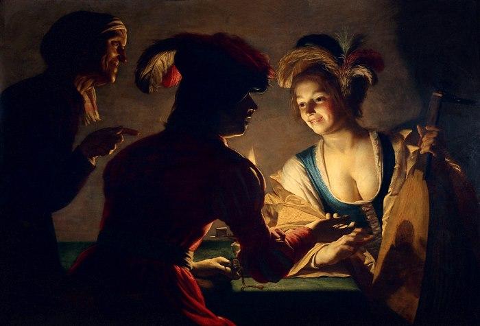 Gerard van Honthorst - de koppelaarster